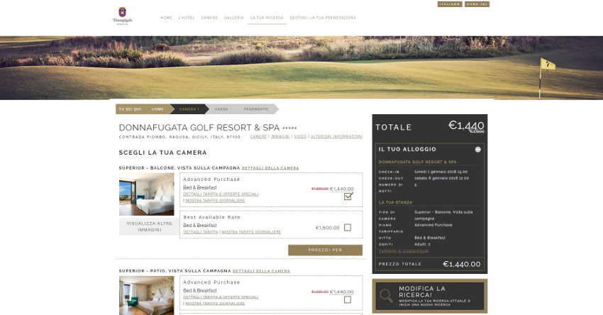 Donnafugata Golf Resort - Booking Engine